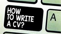 How to write an entry level CV